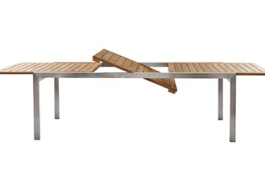 Lawn tables - Rectangular extendable table Teak – ADAMAS - IL GIARDINO DI LEGNO
