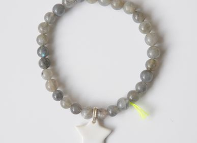 Jewelry - Bracelet DIVINE grey 6 - MARGOTE CERAMISTE
