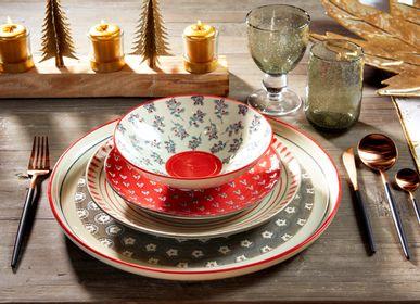 """Assiettes de reception - Table de Noël - vaisselle """"Heidi""""  - AMADEUS"""