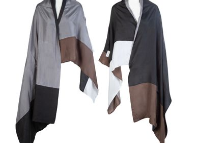 Ready-to-wear - Reversible Silk Shawl Kimono Sleeves - ATELIER PICHITA