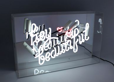 Decorative objects - 'Hey Beautiful' Acrylic Box Neon Light - LOCOMOCEAN