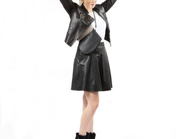 Sacs et cabas - Zip Maxi Studs - Sac en cuir avec clous incrustés et bandoulière ajustable - MLS-MARIELAURENCESTEVIGNY