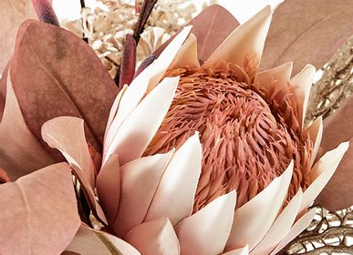 Floral decoration - PROTEA PALE PINK - LOU DE CASTELLANE