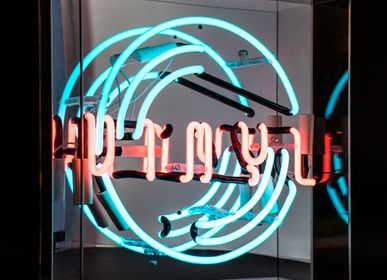 Decorative objects - 'Vinyl' Large Acrylic Box Neon Light - LOCOMOCEAN