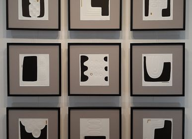 Cadres - Gravure et gaufrage 40 cm x 40 cm noir - FOUCHER-POIGNANT