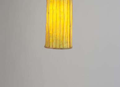 Hanging lights - Stitched Washable Paper Lamps (Lime) - INDIGENOUS