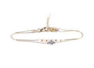 Jewelry - Double bracelet 4 leaf clover  - LITCHI