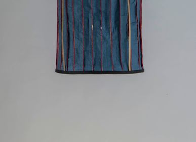 Hanging lights - Stitched Washable Paper Lamps (Blue ) - INDIGENOUS
