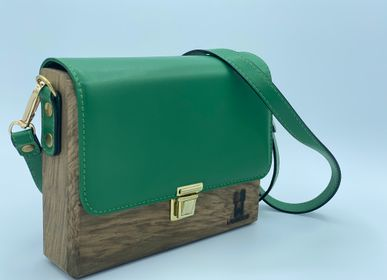 Bags / totes - Lauwood Francisco Handbag - oak and green colour leather - LAUWOOD