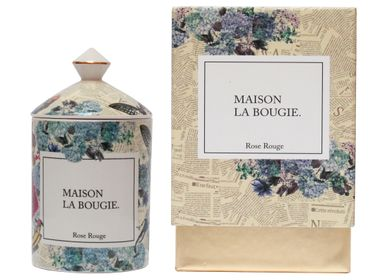 Bougies - Bougie ROSE ROUGE 300g - MAISON LA BOUGIE