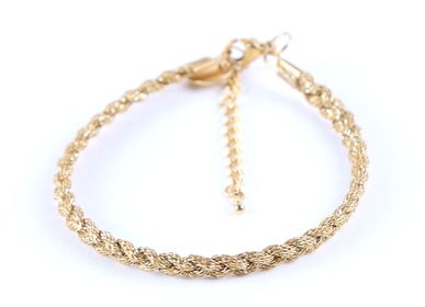 Jewelry - Simple Fabric Bracelet Gold - LITCHI