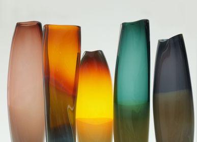 Art glass - Tall Soleus Vessel - MICHELE OBERDIECK