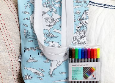 Bags and totes - colour & carry world map tote bag - EATSLEEPDOODLE