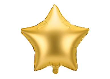 Party decorations -  Foil balloon Star, 48cm, gold - PARTYDECO