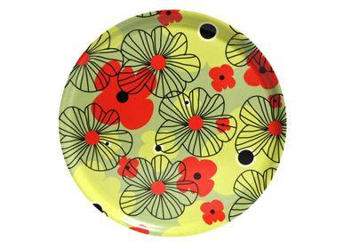 Trays - Retro Flowers trays & coasters - ATIYA TRAYS