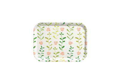 Trays - Rose Garden trays & coasters - ATIYA TRAYS