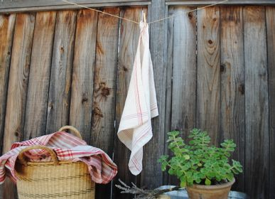 Dish towels - Towel: Handwoven antique Hungarian hemp - LINEAGE BOTANICA - THE ART OF WELLBEING