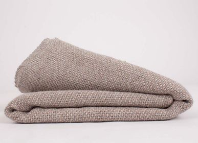 Throw blankets - Tabby sand grey alpaca blanket - ÁBBATTE