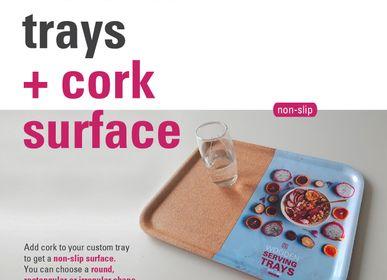 Design objects - Cork trays with your custom print - ATIYA TRAYS