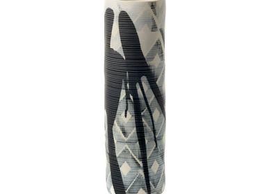 Céramique -  Vase Cylindre Craft Bleu - S.BERNARDO