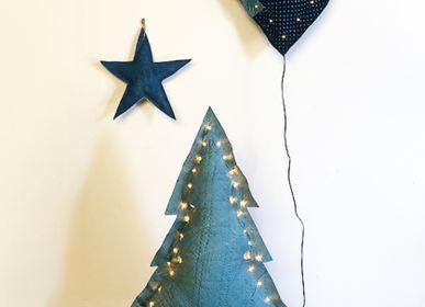 Guirlandes et boules de Noël - Cœur, étoile et sapin lumineux pour noël  - ROSE VELOURS