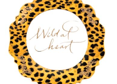 Art hardware - 'Wild at Heart' Leopard Print Side Plate - LYNDALT
