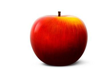 Ceramic - brilliant glazed ceramic apples red-yellow - BULL & STEIN