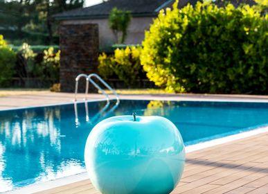 Garden accessories - monochrome-shaded Apple Sculpture - BULL & STEIN