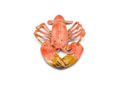 Sculptures, statuettes et miniatures - crustacés faïence - homard - BULL & STEIN
