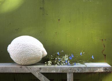 Sculpture - monochrome-shaded lemon sculpture - BULL & STEIN