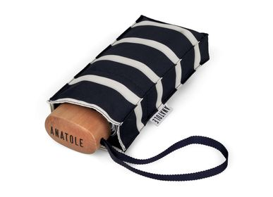 Travel accessories / suitcase - Striped micro-umbrella - White stripes - PABLO - ANATOLE
