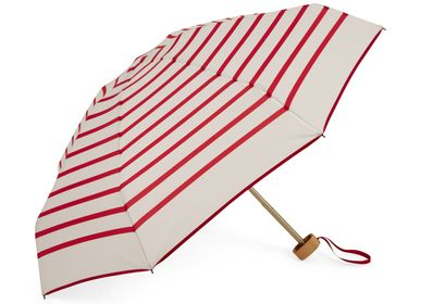 Travel accessories / suitcase - Striped micro-umbrella - Red stripes - PABLO - ANATOLE