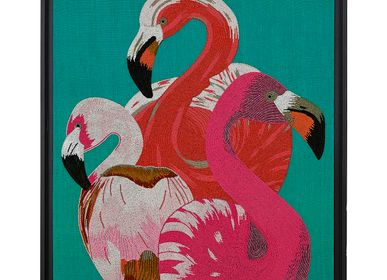 Wall decoration - PINK FLAMINGO BEADS WALL DECORATION - JONATHAN ADLER