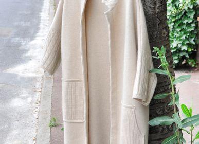 Apparel - Women's organic cashmere coat, Mongolia   - AZZA DESIGN STUDIO ORGANIC CASHMERE MONGOLIE