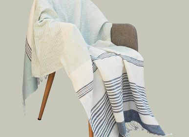 Throw blankets - Kira linen and cotton throw - SADHU HANDMADE NATURALS