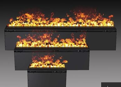 Hotel rooms - 50 cm Water Vapor Fireplace - AFIRE 3D Electric Insert PREMIUM Design Decoration - AFIRE