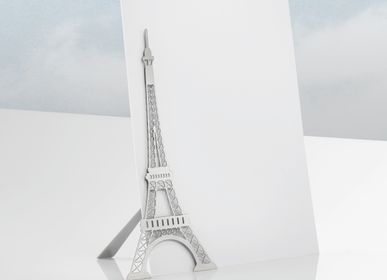 Stationery store - Magnetic stainless steel photo stand - Eiffel Tower. - TOUT SIMPLEMENT,