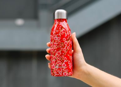 Food storage - ONE Flowers bottle red - QWETCH
