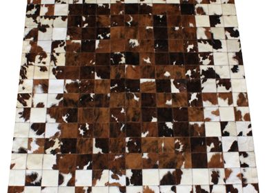 Contemporain - TAPIS vache naturel Design Petit Carré - TERGUS
