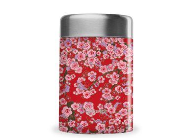 Mugs - Boite repas flowers rouge - QWETCH