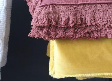 Throw blankets - TERRACOTTA MUSLIN BLANKET - PETIT ALO