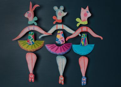 Paréo - Cat, Mouse and Rabbit Ballerina Mobiles - WINI-TAPP