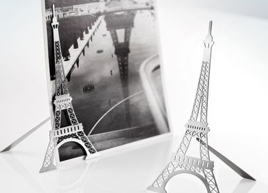 Stationery / Card shop / Writing - Magnetic stainless steel photo stand - Eiffel Tower - TOUT SIMPLEMENT,