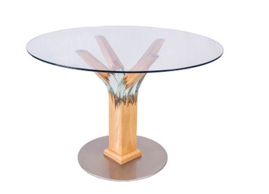 Dining Tables - Round glass table - MEUBLES THOURET