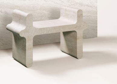 Design objects - OSSICLE TRAVERTINE STOOLS & SETTEES - GIOBAGNARA