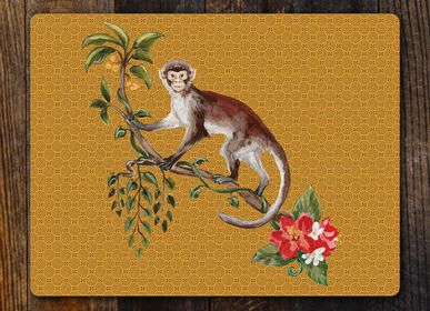 Table mat - Monkey Eucalyptus Table Mats and Coasters - ZOOH