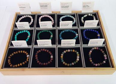 Bijoux - Bracelet en pierre naturelle connectée à la lithothérapie. - ILLUMINATION