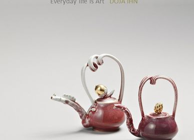 Mugs - DAOR - Red Gold Teapot - DOJA IHN