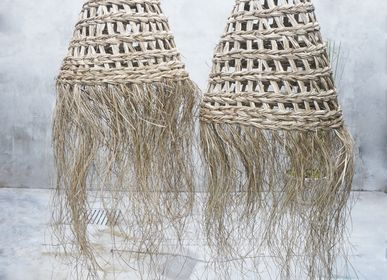 Decorative objects - Wicker Basket Hanging Lampshade - NYAMAN GALLERY BALI