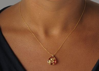 Jewelry - Necklace MX DACRYL 479 golden nuggets. - MX DESIGN